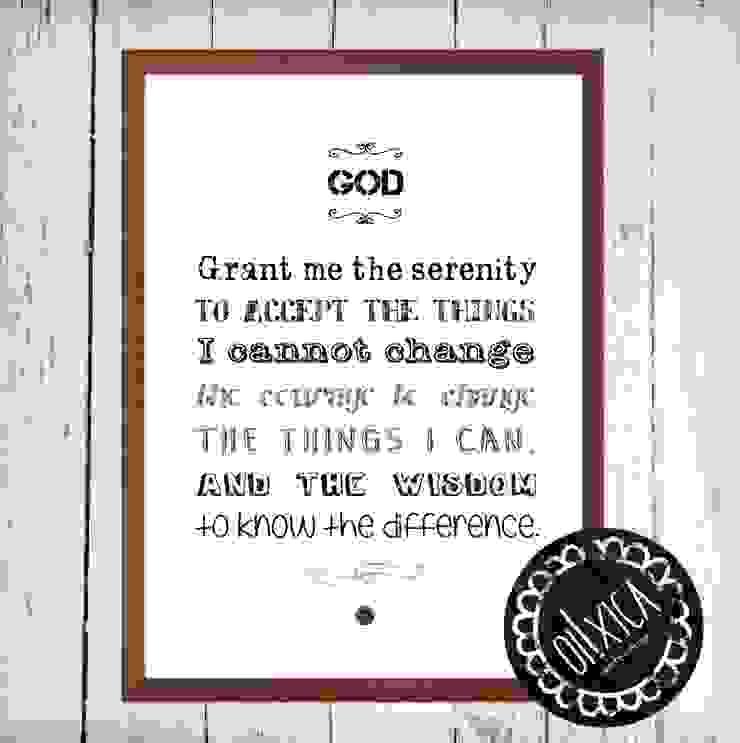 Poster *Serenity Prayer por Oi! Xica Escandinavo Papel
