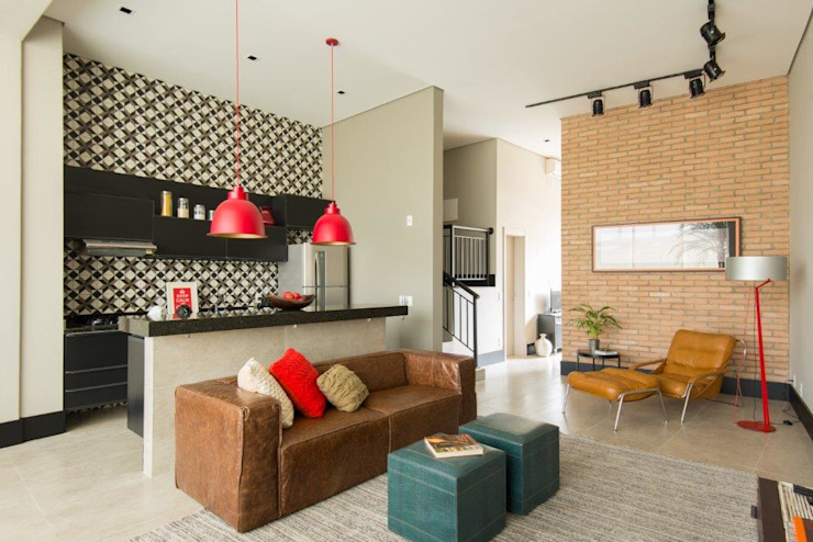 Living room by Samaia Arquitetura+Design, Modern