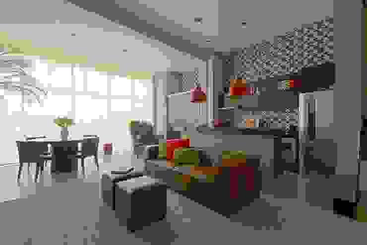 Loft Brooklin Salas de estar modernas por Samaia Arquitetura+Design Moderno
