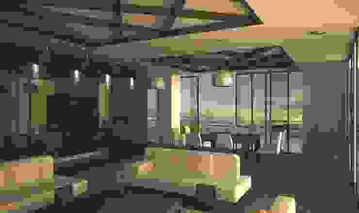 SALA DE ESTAR Salones modernos de Ar.Co Moderno Granito