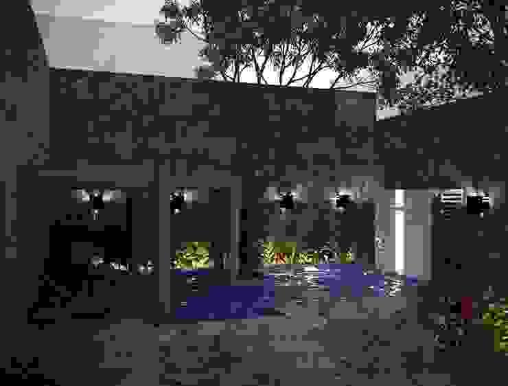 ALBERCA TIPO COLONIAL CON ACABADOS EN MAMPOSTERIA Piscinas coloniales de Ar.Co Colonial Piedra