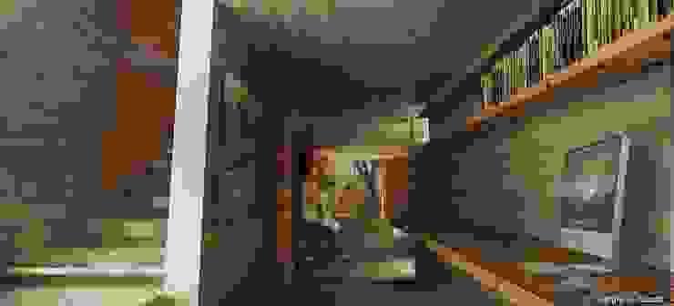 AREA PRIVADA Pasillos, vestíbulos y escaleras modernos de 75 Arquitectura Moderno