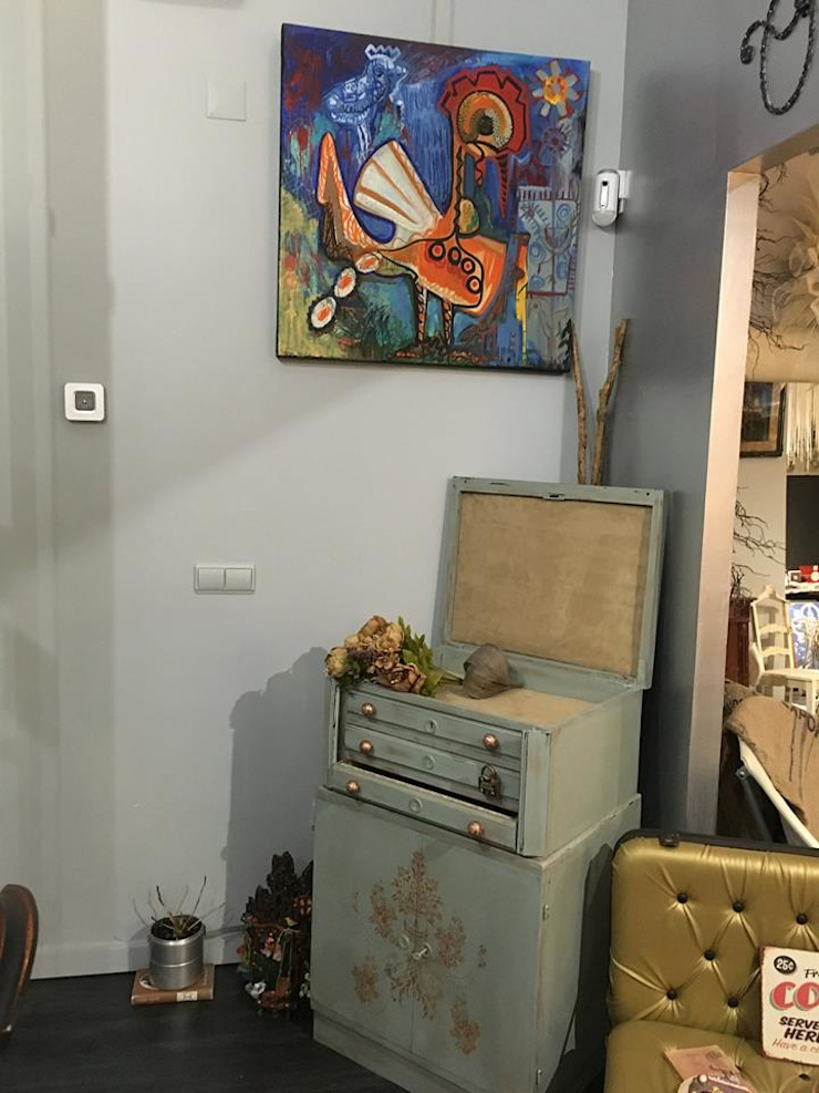 Antes faqueiro… agora móvel de apoio ao posto de café por u shabby chic Eclético
