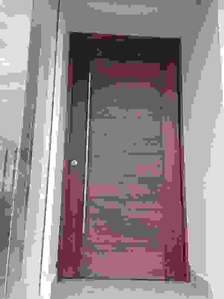 PUERTA DE ENTRADA PRINCIPAL Puertas y ventanas modernas de Alejandra Zavala P. Moderno