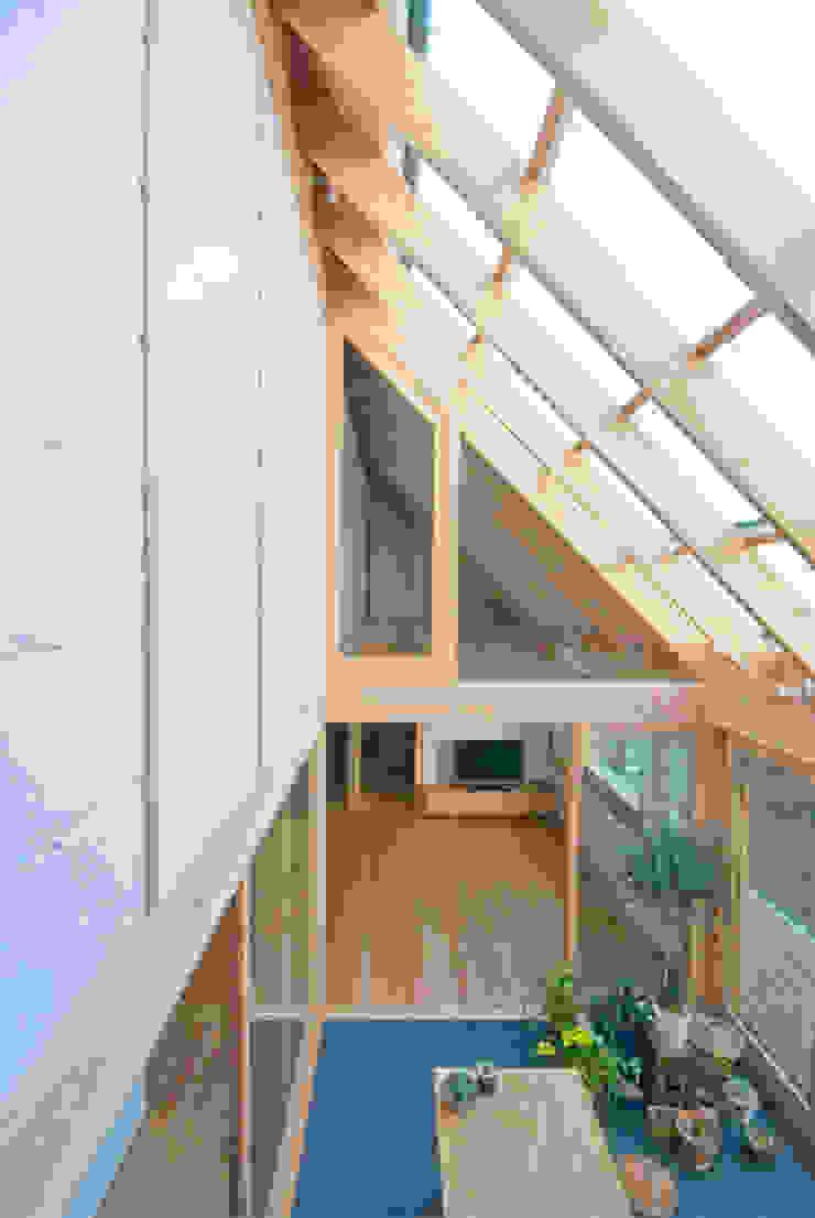 Jardines de invierno de estilo ecléctico de 千田建築設計 Ecléctico Plástico