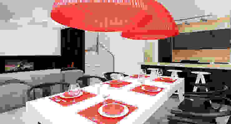 Salon domu katalogowego inaczej Minimalistyczna jadalnia od Ale design Grzegorz Grzywacz Minimalistyczny