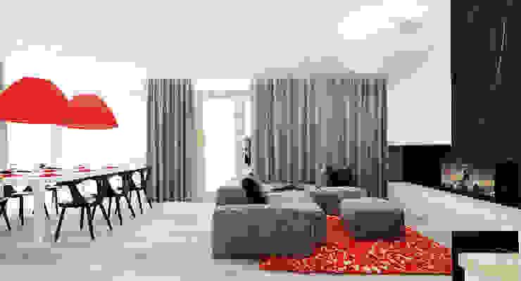Salon domu katalogowego inaczej Nowoczesny salon od Ale design Grzegorz Grzywacz Nowoczesny
