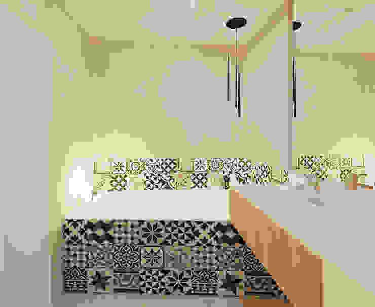 łazienka 1 wersja Minimalistyczna łazienka od Ale design Grzegorz Grzywacz Minimalistyczny