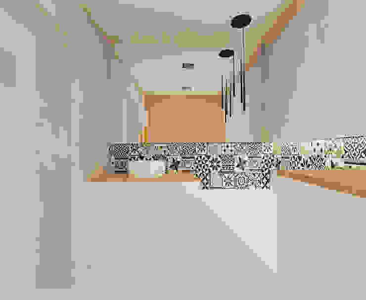 łazienka 2 wersja Minimalistyczna łazienka od Ale design Grzegorz Grzywacz Minimalistyczny