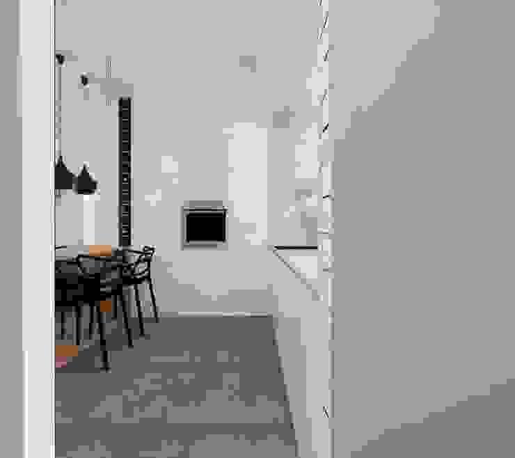 kuchnia z salonem Minimalistyczna kuchnia od Ale design Grzegorz Grzywacz Minimalistyczny