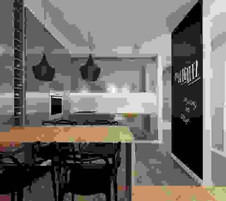 kuchnia z salonem Minimalistyczny salon od Ale design Grzegorz Grzywacz Minimalistyczny