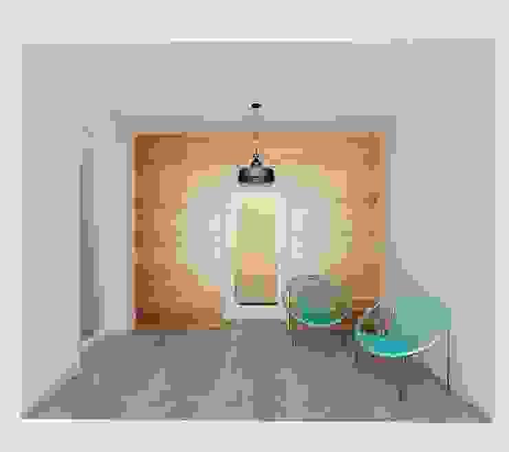 Stonowane mieszkanie 45m2 w Dąbrowie Górniczej Minimalistyczny balkon, taras i weranda od Ale design Grzegorz Grzywacz Minimalistyczny