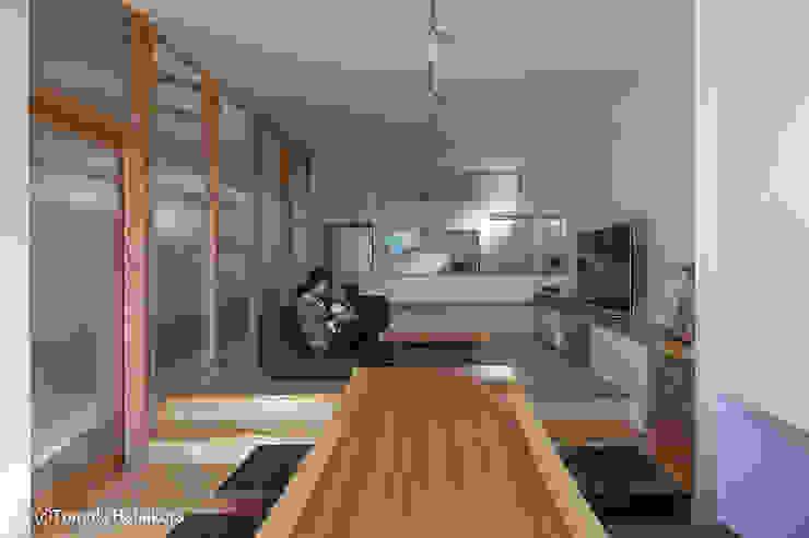 Moderne Wohnzimmer von I Live Architects/田辺弘幸建築設計事務所 Modern