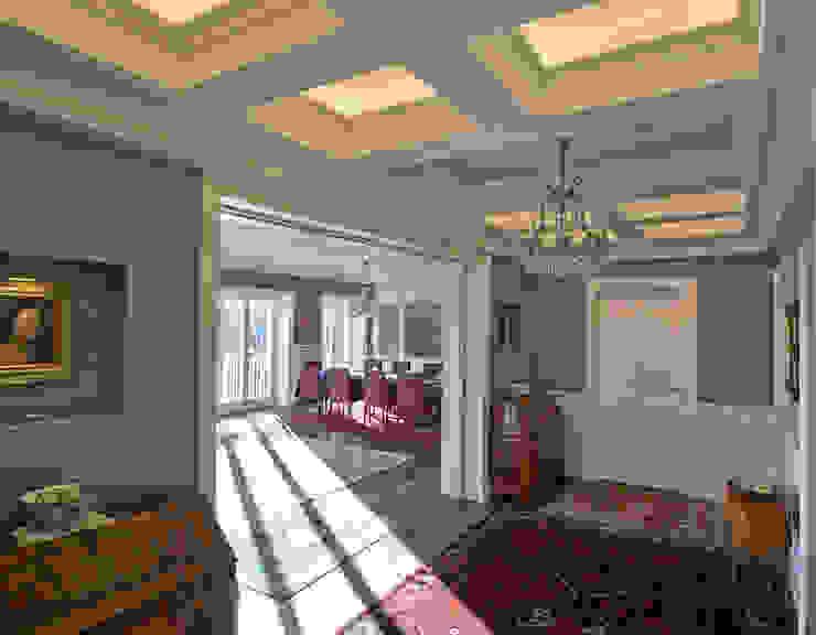 Ingresso con soffitto a cassettoni Ingresso, Corridoio & Scale in stile eclettico di Platform Studio Eclettico