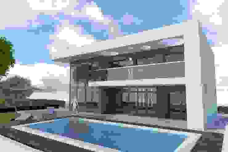 BOBI Casas de estilo moderno de DYOV STUDIO Arquitectura, Concepto Passivhaus Mediterraneo 653 77 38 06 Moderno Caliza
