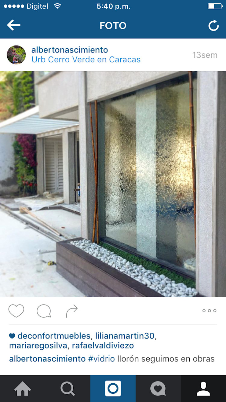 Fuente vidrio de agua de Paisajismo A&N Moderno Vidrio