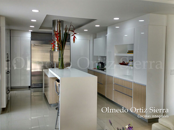 Cocinas Integrales Olmedo Ortiz Sierra KitchenCabinets & shelves Wood White