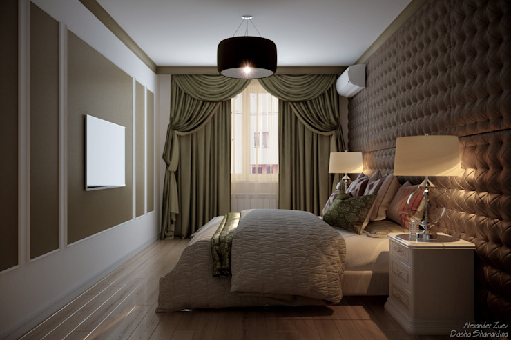 Eclectic style bedroom by Студия интерьерного дизайна happy.design Eclectic