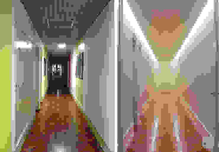 Remodelação de apartamento Avenidas Novas, Lisboa Corredores, halls e escadas modernos por Matos + Guimarães Arquitectos Moderno