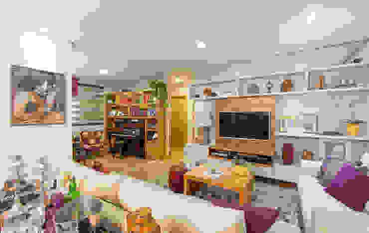 LIVING Salas de estar ecléticas por GRUPO AE - ARQUITETURA+ENGENHARIA Eclético