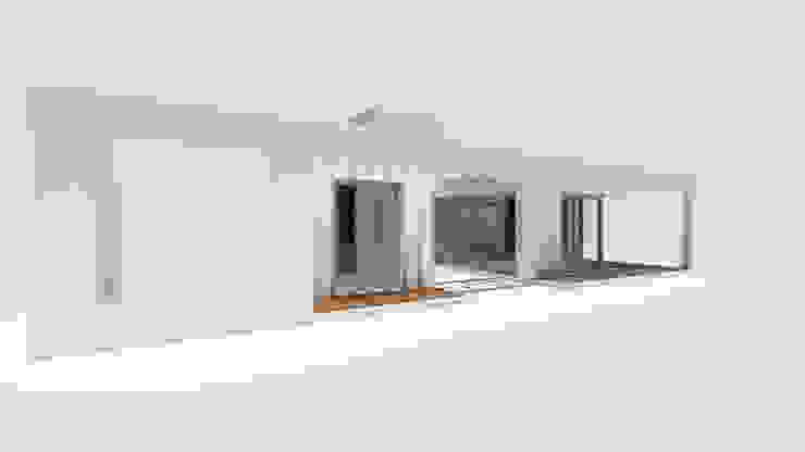Vista norte de 1.61 Arquitectos Minimalista