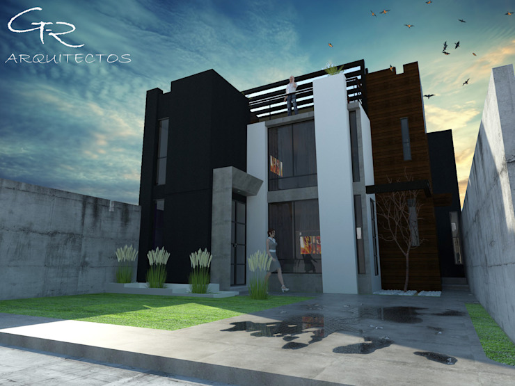 House Jc-1 Casas minimalistas de GT-R Arquitectos Minimalista