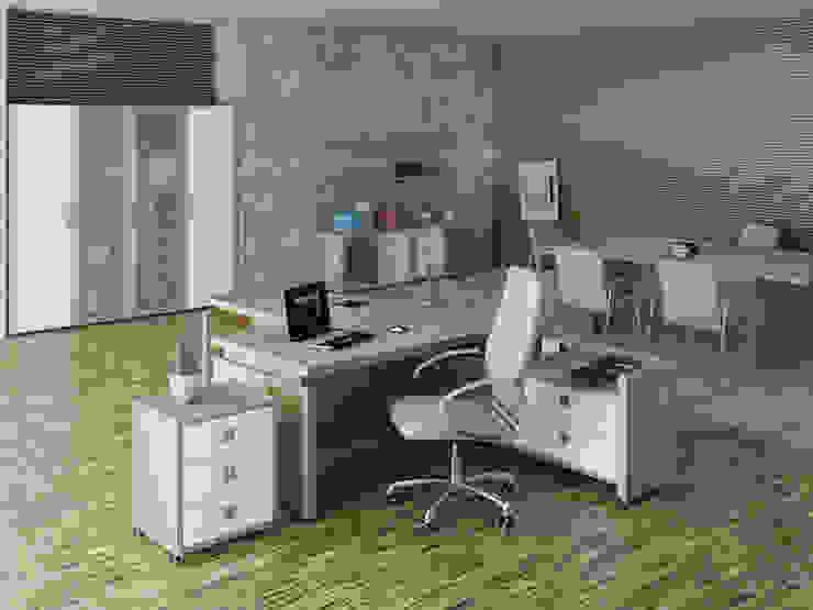 Oficinas de estilo minimalista de Юлия Максимук Minimalista