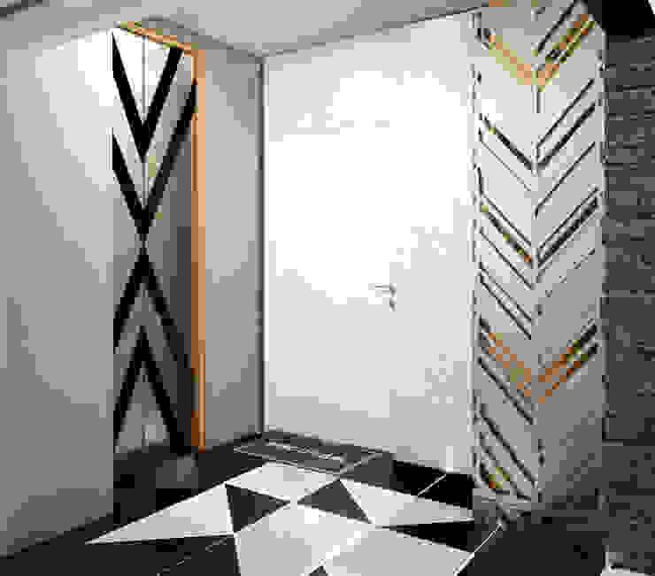 Pasillos, vestíbulos y escaleras de estilo minimalista de Юлия Максимук Minimalista