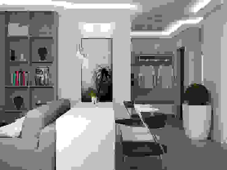 Salas de estilo minimalista de Юлия Максимук Minimalista
