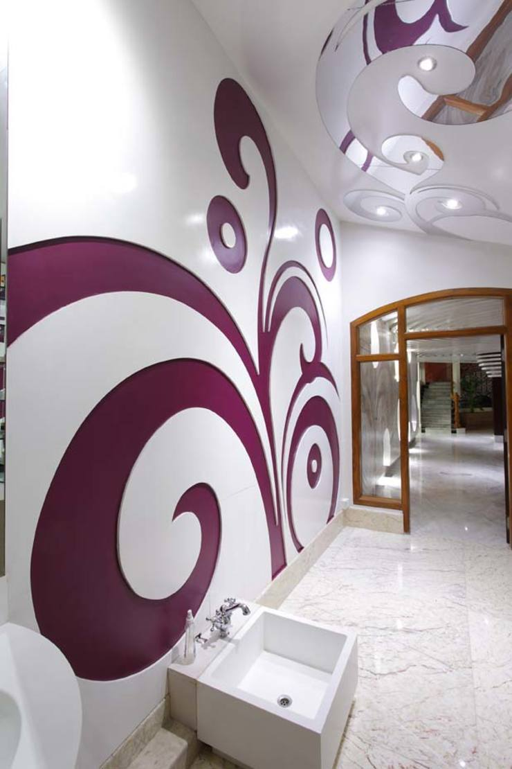 Residential Interior for Mrs. Banalari Eclectic style spa by Purple Architecture Eclectic MDF