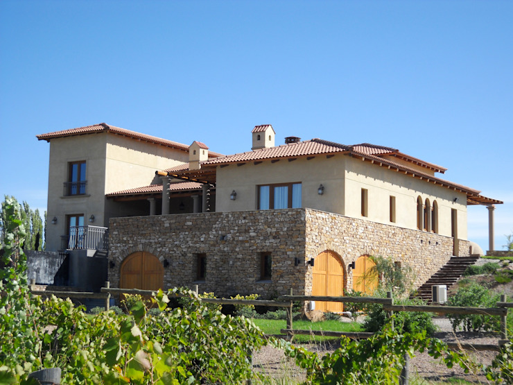 Vista Sureste Casas mediterráneas de Azcona Vega Arquitectos Mediterráneo
