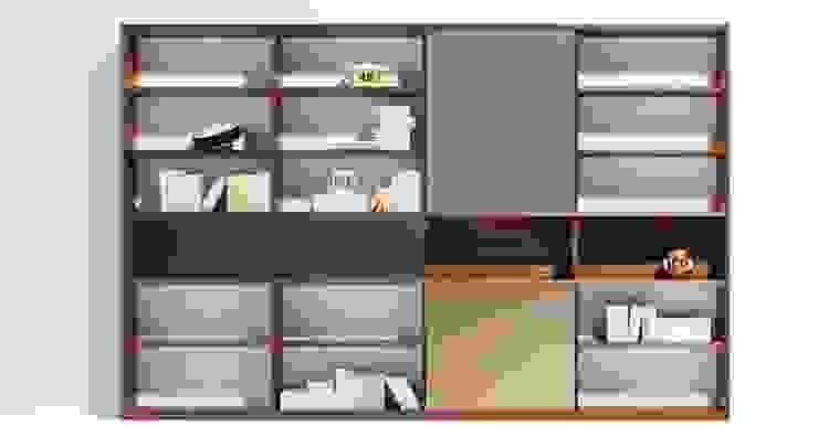 libreria Bottega del Legno Sala multimediale minimalista Legno massello