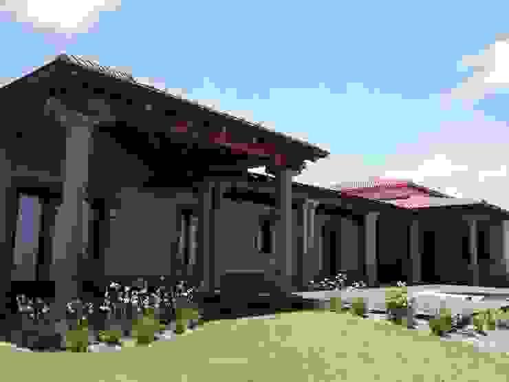 Vista suroeste Casas rústicas de Azcona Vega Arquitectos Rústico