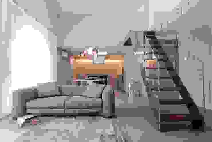 Salas de estar minimalistas por studiooxi Minimalista