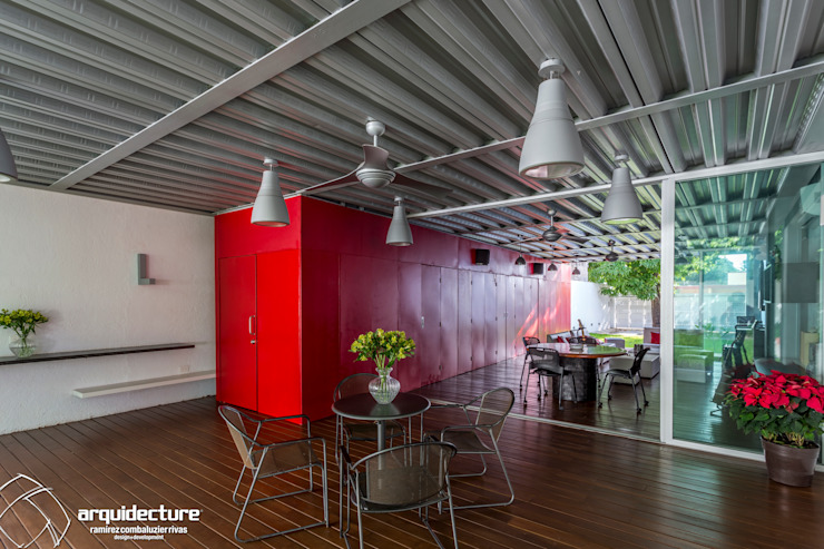 Industrial style study/office by Grupo Arquidecture Industrial Iron/Steel