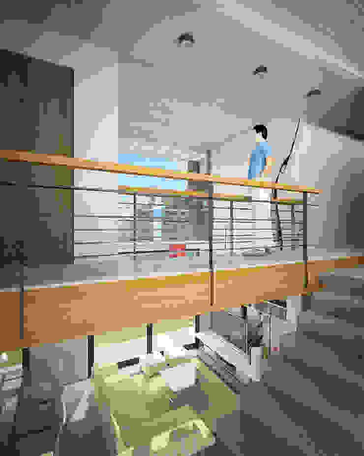 Pasillos, vestíbulos y escaleras de estilo minimalista de Comodo-Estudio+Diseño Minimalista