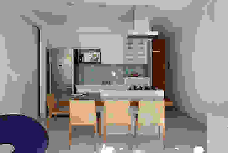 Apartamento Cupertino Durão. Salas de jantar modernas por Ateliê de Arquitetura Moderno
