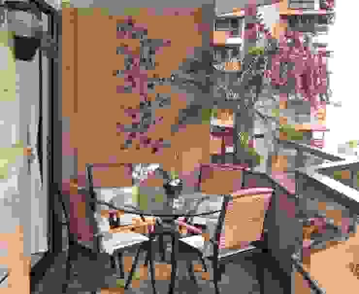 Paty Nascimento Designer de Interiores e Paisagista Tropischer Balkon, Veranda & Terrasse