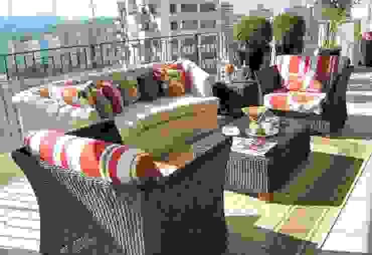 Projeto Varandas Varandas, alpendres e terraços tropicais por Paty Nascimento Designer de Interiores e Paisagista Tropical