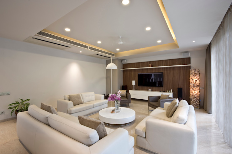 Private Residence, Koregaon Park, Pune Modern living room by Chaney Architects Modern