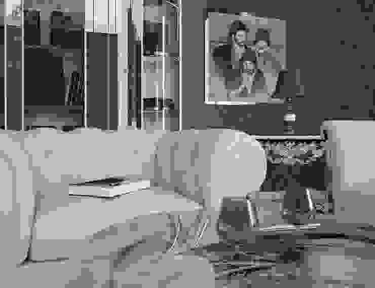 RENDERING 3D - LUXURY RESIDENCE 2P COSTRUZIONI srl Soggiorno moderno