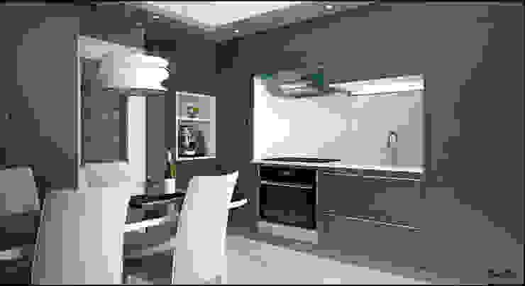 RENDERING 3D – LUXURY RESIDENCE 2P COSTRUZIONI srl Cucina moderna