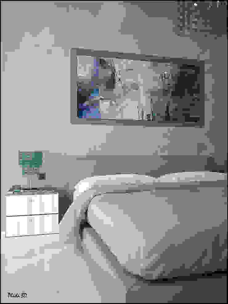 RENDERING 3D – LUXURY RESIDENCE 2P COSTRUZIONI srl Camera da letto moderna