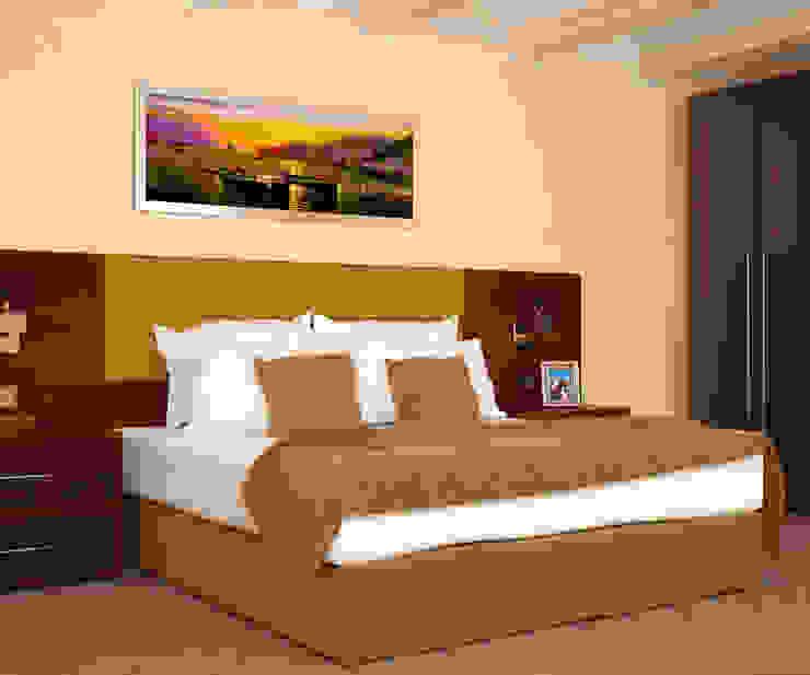 RENDERING 3D – LUXURY RESIDENCE 2P COSTRUZIONI srl Camera da letto in stile classico