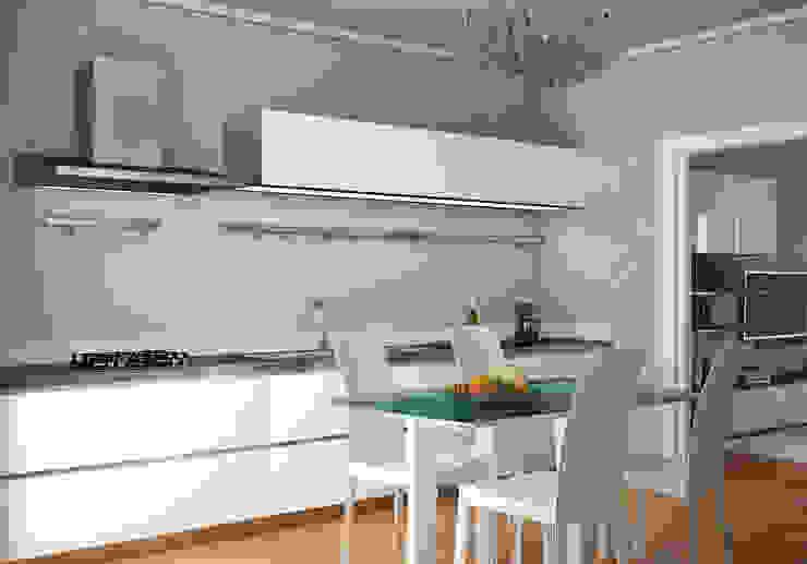 RENDERING 3D – DISPOSIZIONE ARREDO IN AMBIENTI ESISTENTI 2P COSTRUZIONI srl Cucina in stile classico
