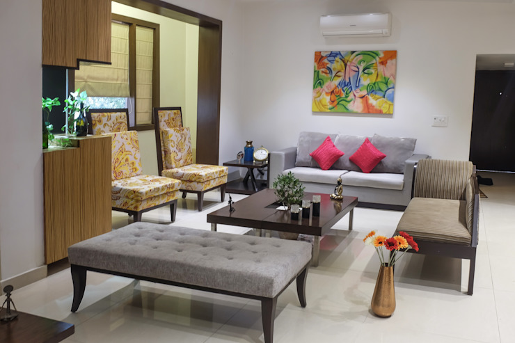 Chand Residence Modern living room by Studio Ezube Modern