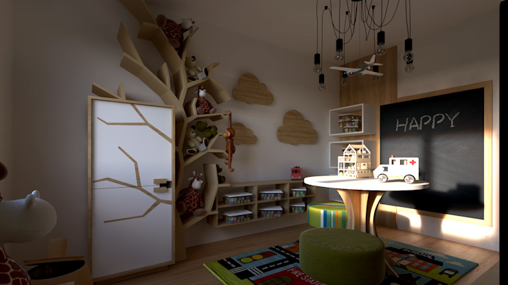Mdimension Dormitorios infantiles de estilo minimalista