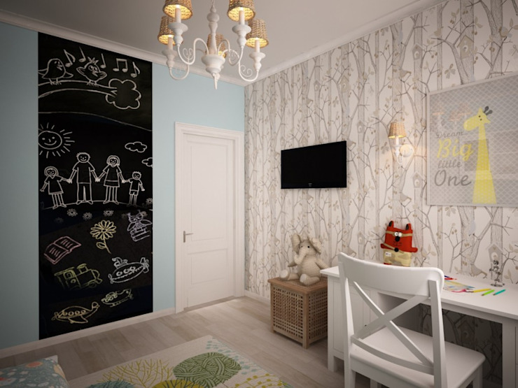 Habitaciones infantiles de estilo  por дизайн-бюро ARTTUNDRA, Escandinavo