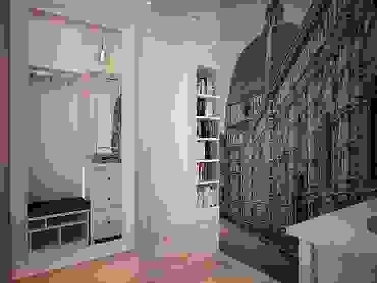 Pasillos y vestíbulos de estilo  por дизайн-бюро ARTTUNDRA, Escandinavo