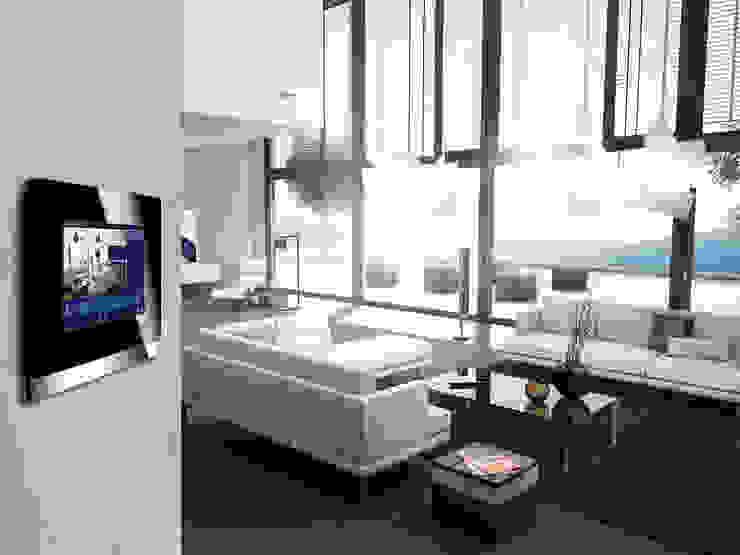 Inteligentny dom – system zarządzania instalacjami Skandynawski salon od Inteligentny Budynek Polska Skandynawski